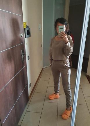 Новый  крутой костюм худи штаны на осень флис3 фото