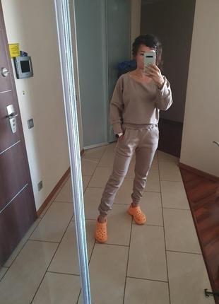 Новый  крутой костюм худи штаны на осень флис4 фото