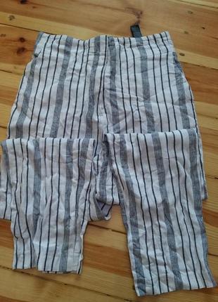 Класні натуральні штани з високою талією