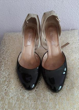 Туфли кожаные  36,6р1 фото