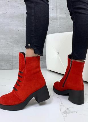 Ботиночки высокие натуральная замша5 фото