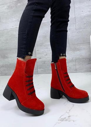 Ботиночки высокие натуральная замша2 фото