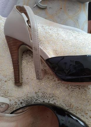 Туфли кожаные  36,6р5 фото