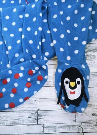 Теплая пижама кигуруми в горошек с пингвином love to lounge2 фото
