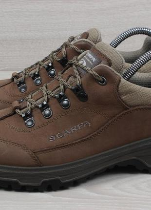 Кожаные треккинговые кроссовки scarpa оригинал, размер 408 фото