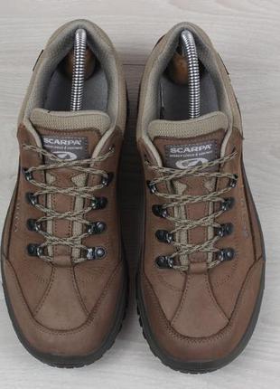 Кожаные треккинговые кроссовки scarpa оригинал, размер 402 фото