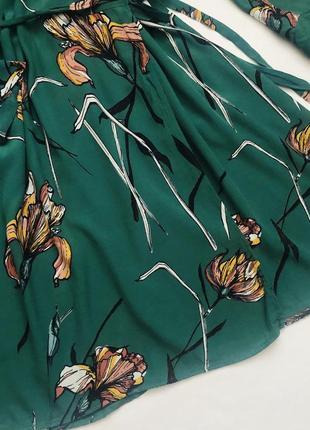 Платье на запах в цветы6 фото