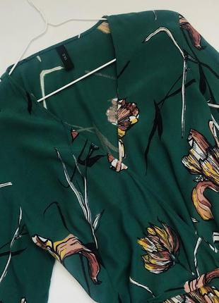 Платье на запах в цветы3 фото