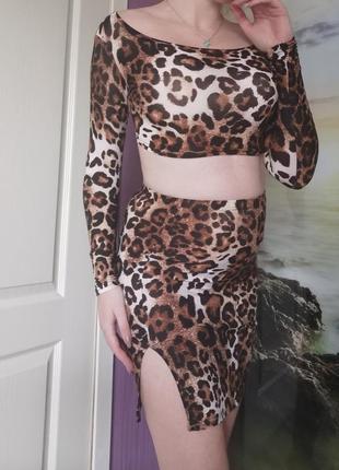 Костюм леопардовой расцветки новый