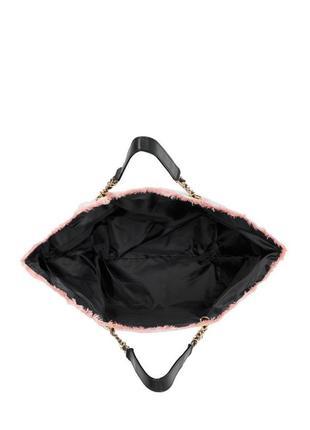 Вместительная пляжная городская сумка в полоску victoria's victorias secret3 фото