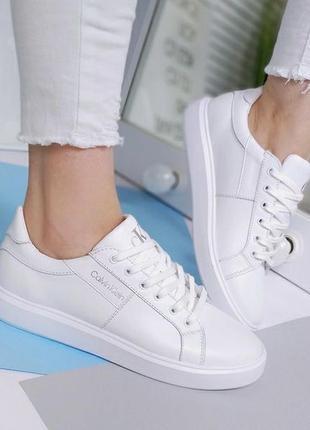 Новые женские кожаные белые кроссовки кросівки2 фото