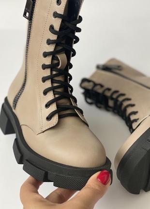 Супер! кожаные берцы ботинки