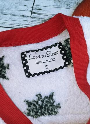 Теплая плюшевая пижама в снежинки с мопсом новогодняя love to sleep select3 фото