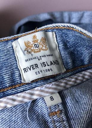 Синие короткие шорты river island с подворотами4 фото