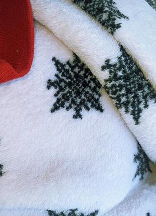 Теплая плюшевая пижама в снежинки с мопсом новогодняя love to sleep select6 фото