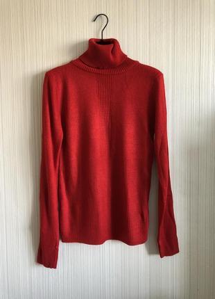 Водолазка, красный свитер m