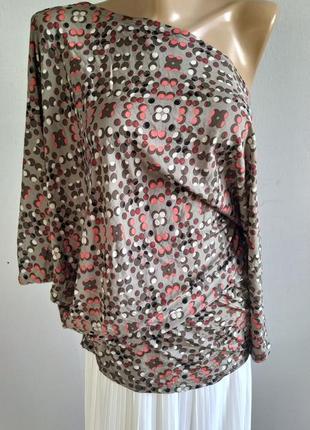 Асимметричный тонкий пуловер, блуза, northland vicolo, италия1 фото