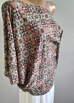 Асимметричный тонкий пуловер, блуза, northland vicolo, италия4 фото