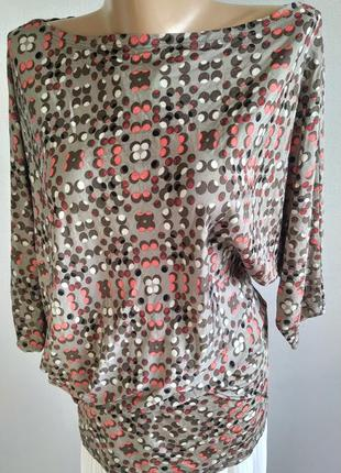 Асимметричный тонкий пуловер, блуза, northland vicolo, италия2 фото