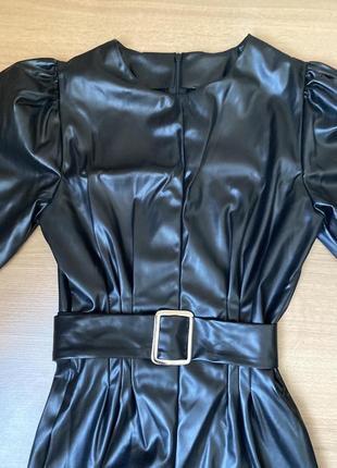 Кожаное платье2 фото