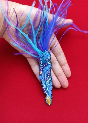 Изысканная брошь перо в подарок для замечательных преподавателей4 фото