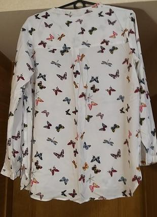 Шикарная,брендовая,вискозная рубашка с принтом от bodyflirt2 фото