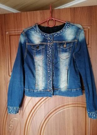 Пиджак джинсовый1 фото