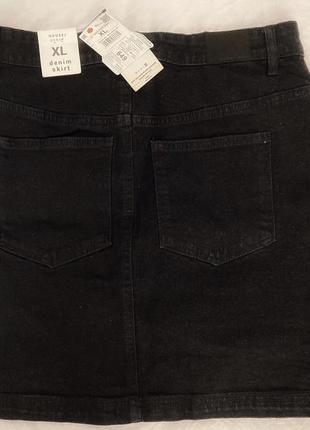 Юбка джинсовая черная новая2 фото