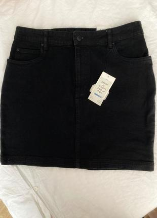 Юбка джинсовая черная новая1 фото