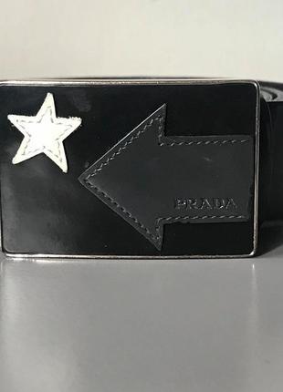Ремень пояс кожа prada оригинал unisex1 фото