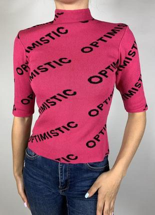 Оригинальная розовая кофточка рукав 3/4 от tally weijl1 фото