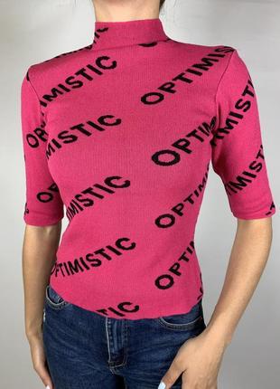 Оригинальная розовая кофточка рукав 3/4 от tally weijl2 фото