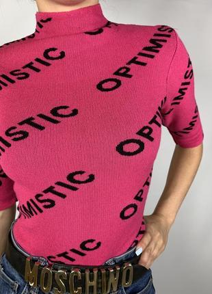 Оригинальная розовая кофточка рукав 3/4 от tally weijl4 фото