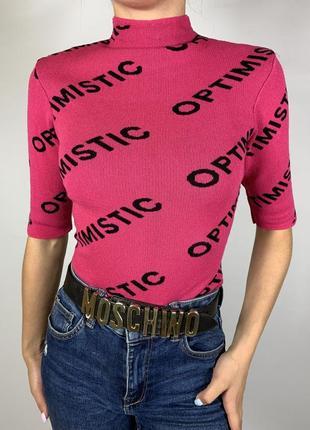 Оригинальная розовая кофточка рукав 3/4 от tally weijl3 фото