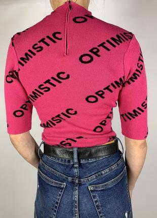 Оригинальная розовая кофточка рукав 3/4 от tally weijl6 фото