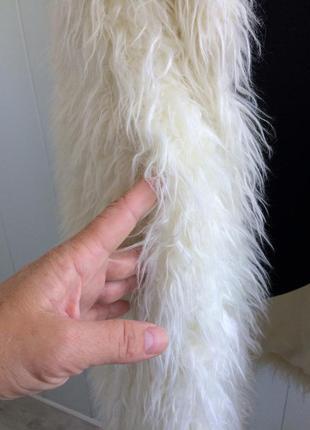 Шуба без рукавов длинный жилет кардиган мохер козочка elisabetta franchi3 фото