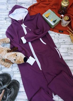 Теплая пижама кигуруми комбинезон с капюшоном grace1 фото