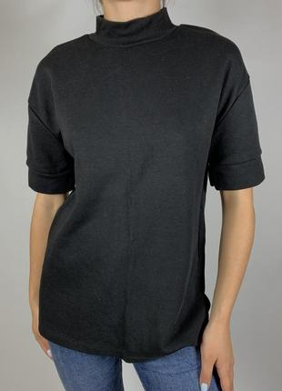 Черная футболка zara