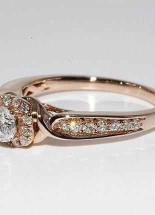 Золотое кольцо 585  бриллианты 0.51ct размер 17 сертификат2 фото