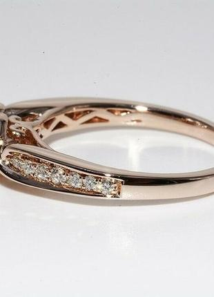 Золотое кольцо 585  бриллианты 0.51ct размер 17 сертификат3 фото