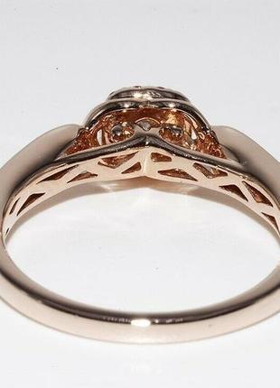 Золотое кольцо 585  бриллианты 0.51ct размер 17 сертификат4 фото
