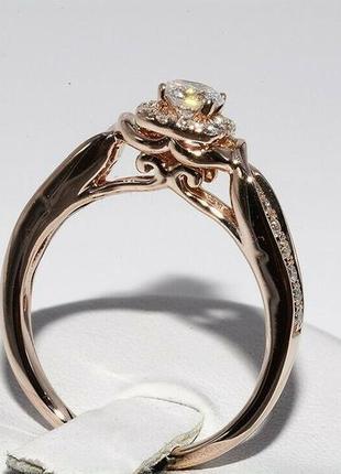 Золотое кольцо 585  бриллианты 0.51ct размер 17 сертификат6 фото