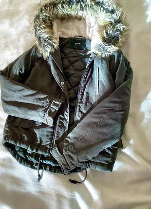 Куртка парка only хаки xs3 фото