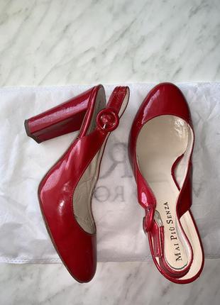 Кожаные туфли босоножки италия5 фото
