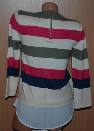 Кофточка бренда tu/ с вставкой имитацией рубашки/3 фото