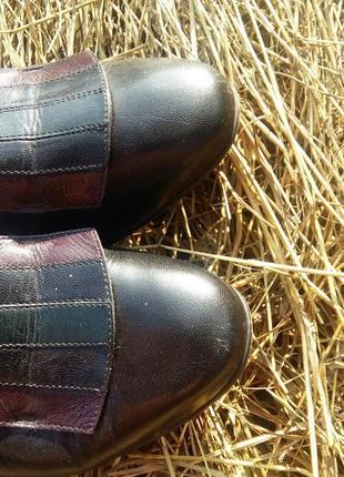 Туфли винтажные кожа винтаж3 фото