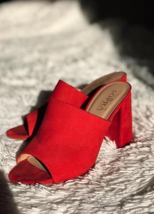 Шикарные мюли на каблуке sopra2 фото