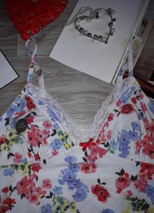Tu очень красивая трикотажная ночная рубашка р 12 сток6 фото