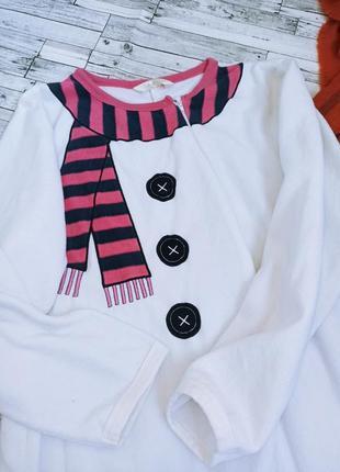 Теплая пижама снеговик новогодний комбинезон для дома кигуруми secret possessions3 фото