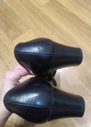 Spiess. натуральная кожа! лоферы на устойчивом каблуке6 фото